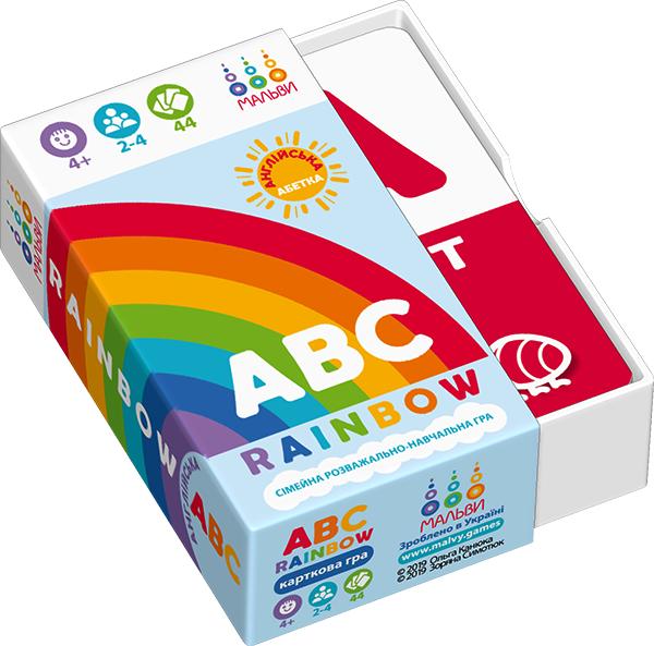 Коробка гри ABC rainbow -- англійська абетка