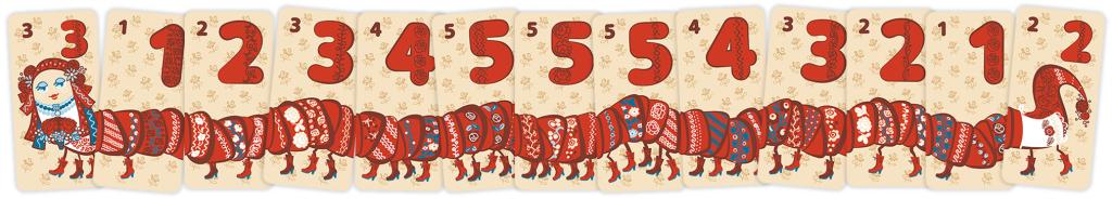 Панна Міля, всі картки -- рахувати легко. Гра 40ніжок від Malvy.Games.