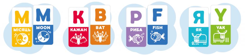Парні картки з ігор АБВ веселка та ABC rainbow