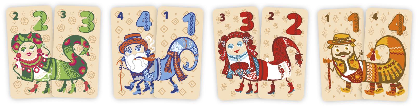 Пари карток до гри від панни Мілі